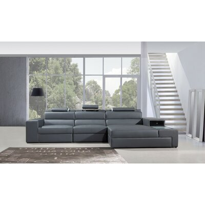 Colman Mini Sectional Upholstery: Gray