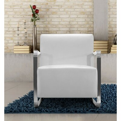 Coalpit Heath Armchair Upholstery: White
