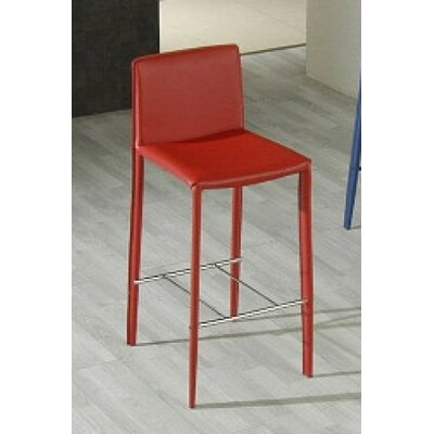 Clower Modern Bar Stool Color: Red