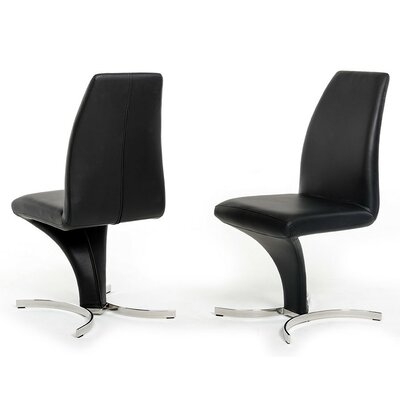 Clower Upholstered Dining Chair Color: Black