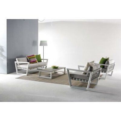 George Outdoor 9 Piece Lounge Seating Group with Cushion