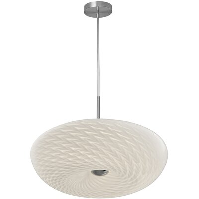 Metsahovi 1-Light Inverted Pendant Size: 6 H x 18 W x 18 D