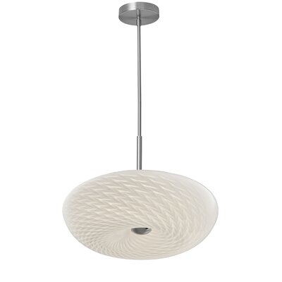 Adkison 1-Light Inverted Pendant Size: 4.5 H x 16 W x 16 D