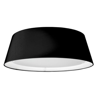Lachesis 1-Light Flush Mount Finish: Black