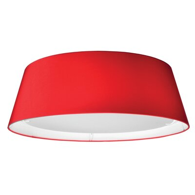 Lachesis 1-Light Flush Mount Finish: Red