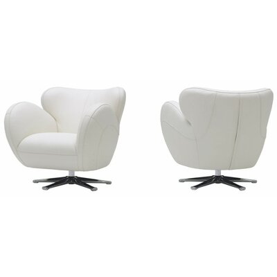 Cana Modern Swivel Lounge Chair Color: White