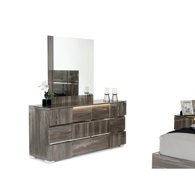 Marley 6 Drawer Dresser Finish: Gray