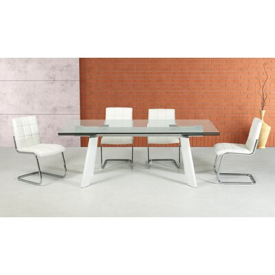 Camron Contemporary 5 Piece Tempered Glass Dining Set