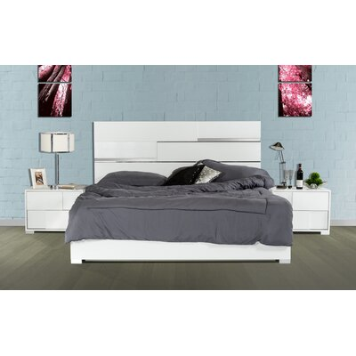 Camron Panel Bed Size: Eastern King, Color: White