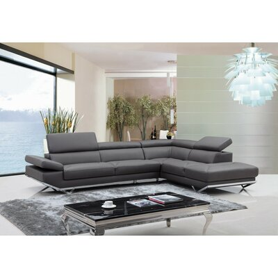 Alsatia Sectional Upholstery: Dark Gray