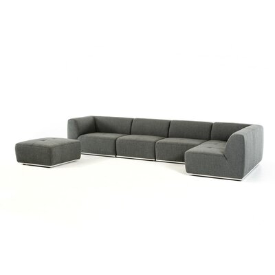 Alsatia Modular Sectional Upholstery: Dark Gray, Orientation: Right Hand Facing
