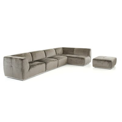 Alsatia Modular Sectional Upholstery: Gray, Orientation: Left Hand Facing