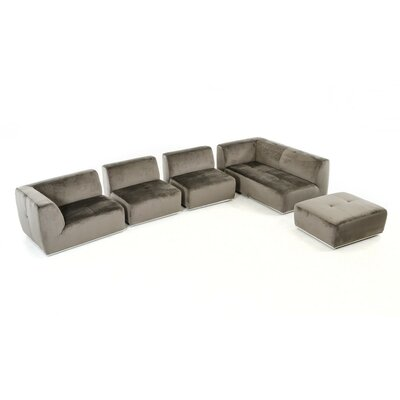 Alsatia Sectional Upholstery: Gray, Orientation: Right Hand Facing