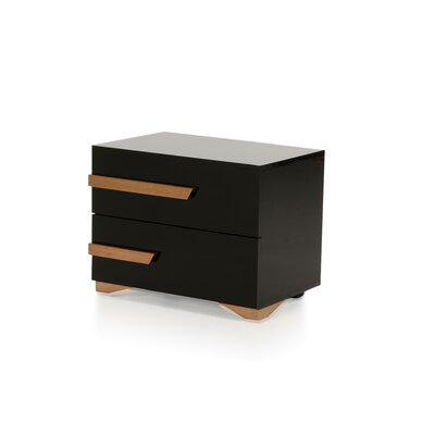 Ertha 2 Drawer Nightstand Orientation: Right Facing