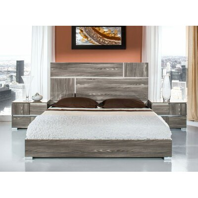 Falbo Platform 5 Piece Bedroom Set Size: Queen, Finish: Grey Lacquer