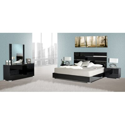 New Cheltenham Panel 5 Piece Bedroom Set Size: King, Finish: Black