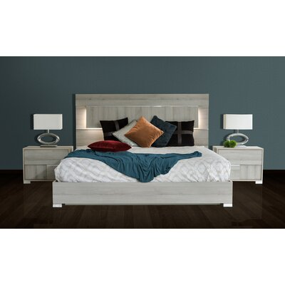 Estella Platform 2 Piece Bedroom Set Size: King