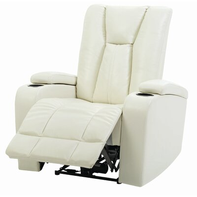 Martinsen Power Recliner Upholstery: White
