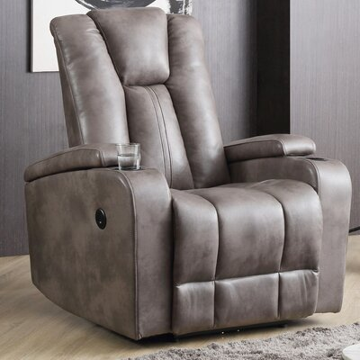 Giao Power Recliner Upholstery: Gray
