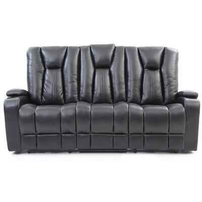 Martinsen Power Reclining Sofa Upholstery: Black
