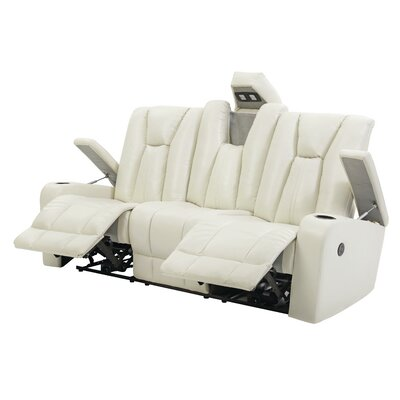 Martinsen Power Reclining Sofa Upholstery: White