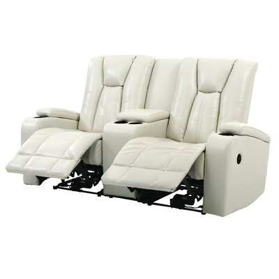 Giao Power Reclining Loveseat Upholstery: White
