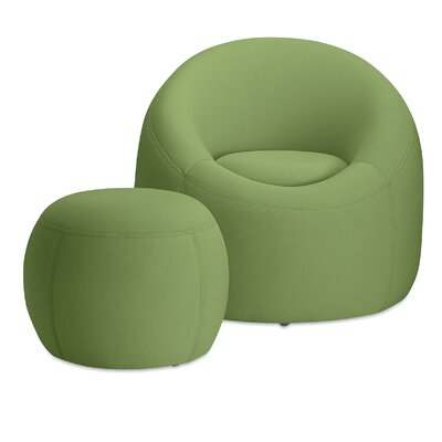 Jupiter Barrel Chair with Ottoman Finish: Sage Green