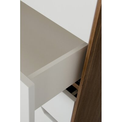 Yaretzi 2 Drawer Nightstand Orientation: Left Facing