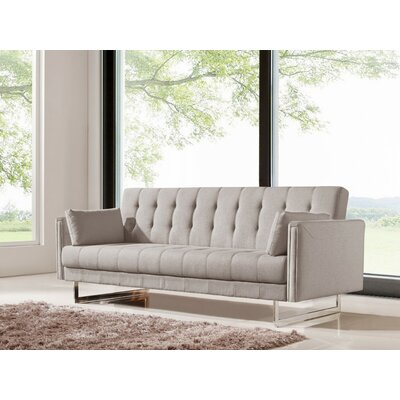 Cana Wood Frame Sleeper Sofa Color: Beige