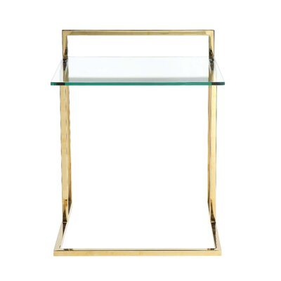 Cavallo End Table Color: Gold