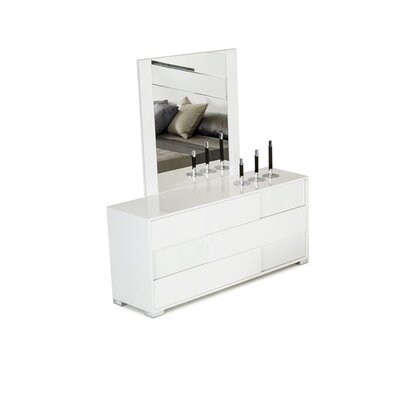 Colona 3 Drawer Dresser with Mirror Color: White