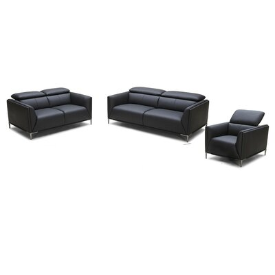 Coalpit Heath 3 Piece Solid Leather Living Room Set