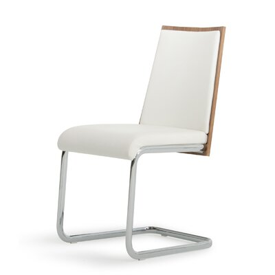 Clower Modern Upholstered Side Chair Upholstery: White