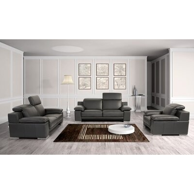 Coalpit Heath 3 Piece Leather Living Room Set