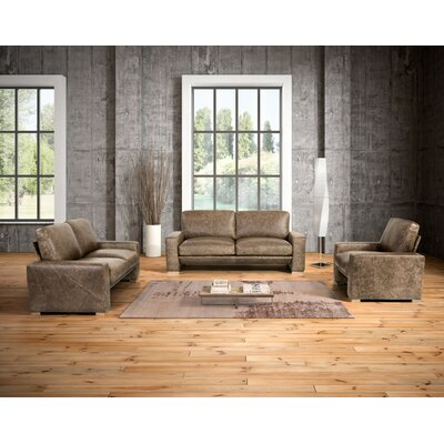 Holden 3 Piece Leather Sofa Set