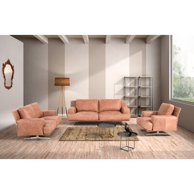 Northbridge 3 Piece Leather Sofa Set
