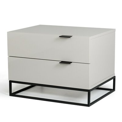 Clower Modern 2 Drawer Nightstand