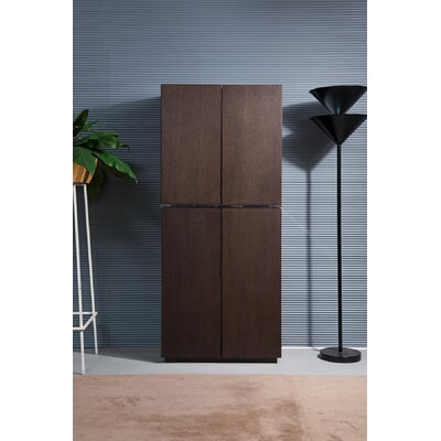 Clower 10 Bottle Floor Wine Cabinet