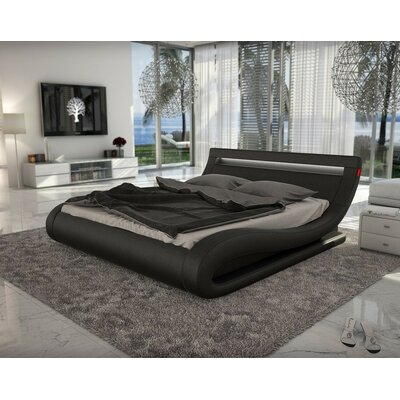 Belafonte Upholstered Platform Bed Size: King, Color: Black