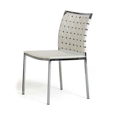 Belafonte Side Chair Upholstery: White