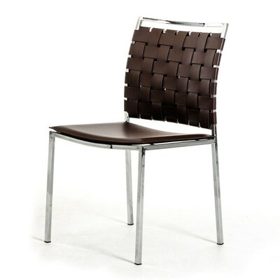 Belafonte Side Chair Upholstery: Brown