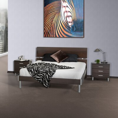 Elettra Platform Bed Size: Queen, Color: Wenge