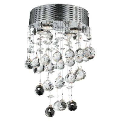 Scythia 2-Light Wall Sconce Crystal Trim: Spectra Swarovski