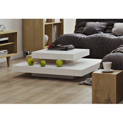 Norridge Coffee Table Color: Pure White/Oak
