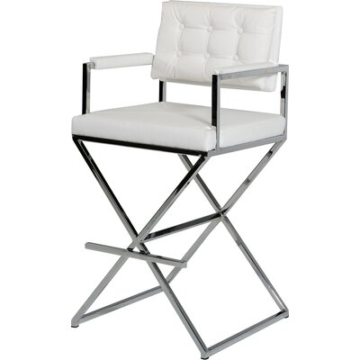 Belafonte Bar Stool Upholstery: White