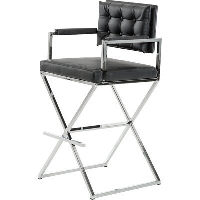 Belafonte Bar Stool Upholstery: Black
