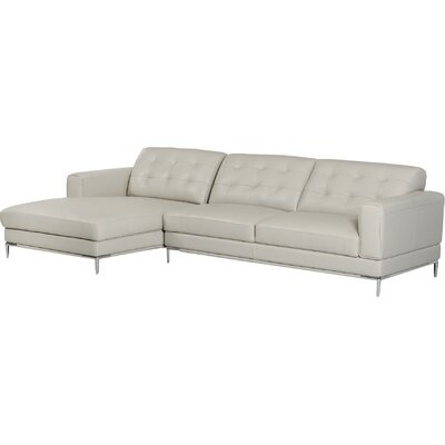 Cana Modern L-Shaped Leather Sectional