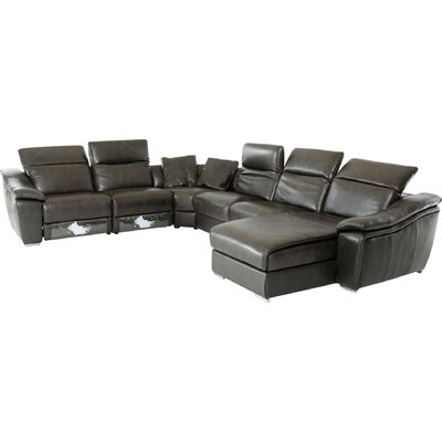 Cana U-Shaped Sectional Upholstery: Dark Grey