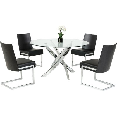 Camron Modern Glass Top Dining Table