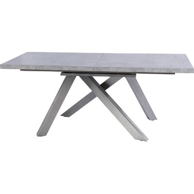 Clower Extendable Concrete Top Dining Table